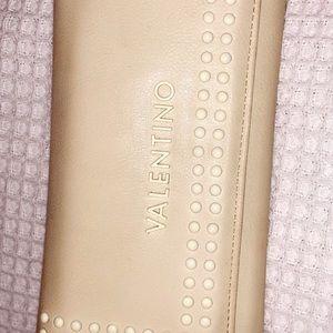 Mario Valentino cream leather wallet